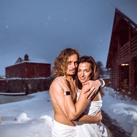 Zima saunový svět