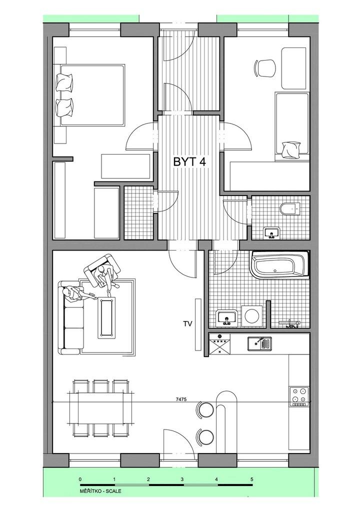 Půdorys apartmánu 4