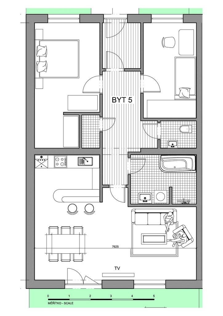Půdorys apartmánu 5