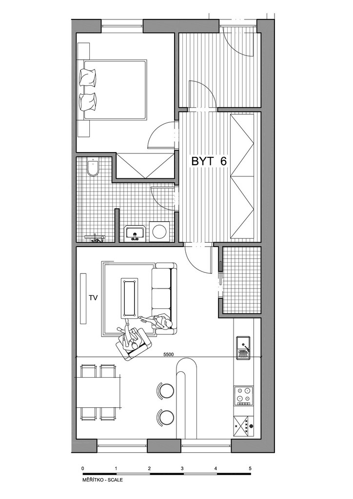 Půdorys apartmánu 6