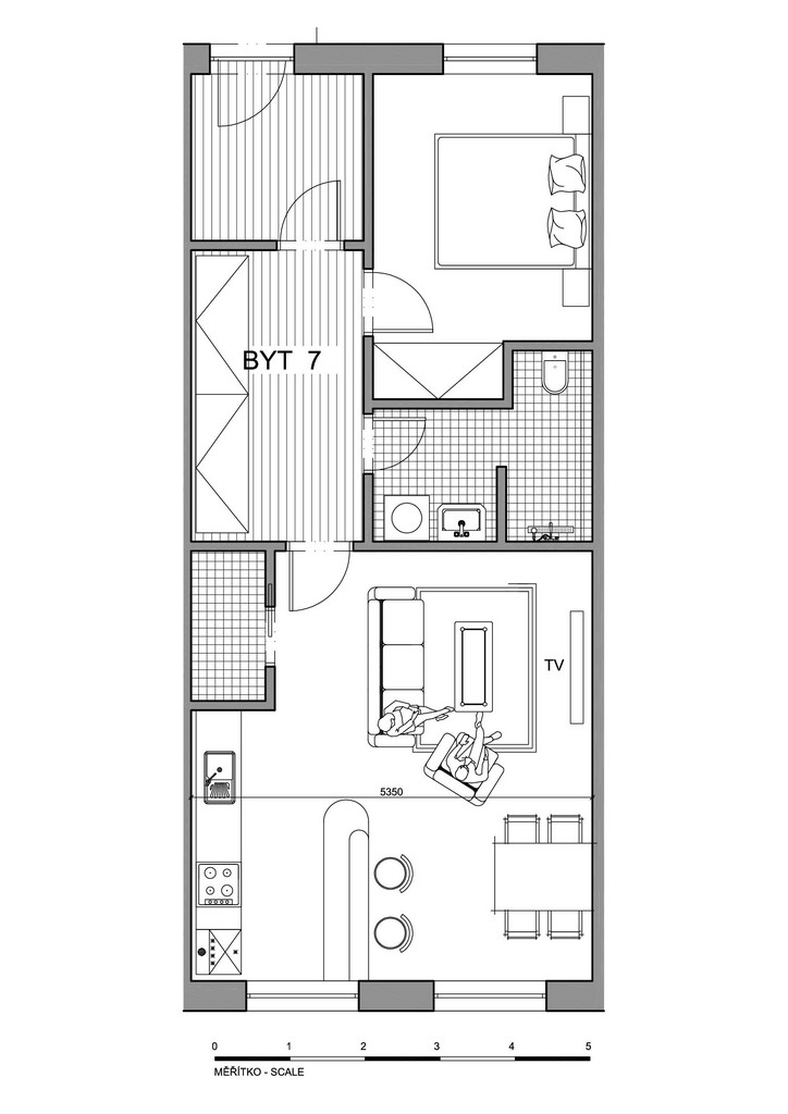 Půdorys apartmánu 7