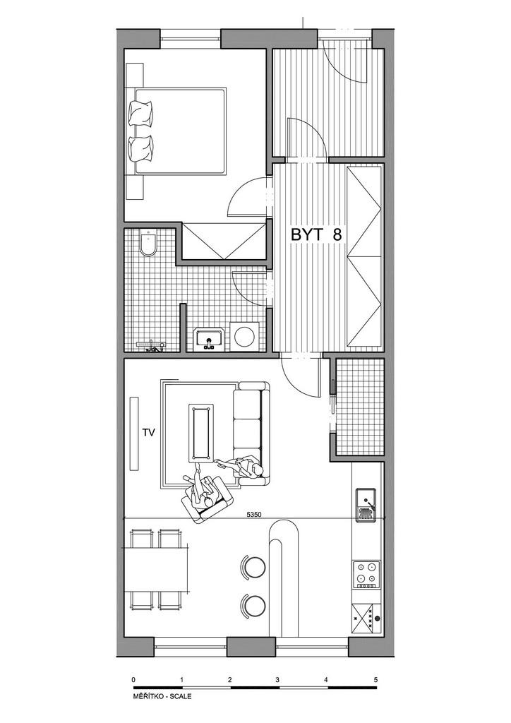 Půdorys apartmánu 8
