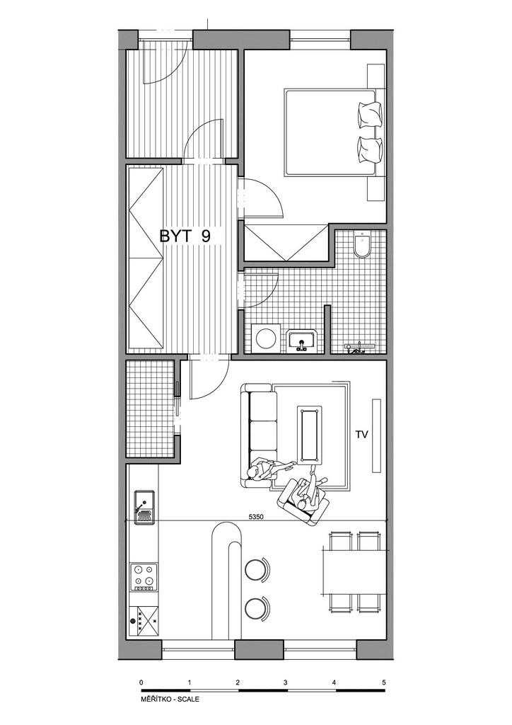 Půdorys apartmánu 9