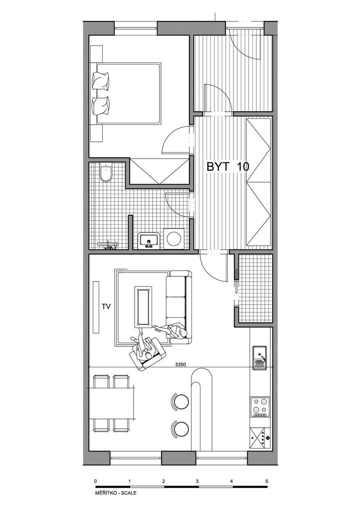 Půdorys apartmánu 10