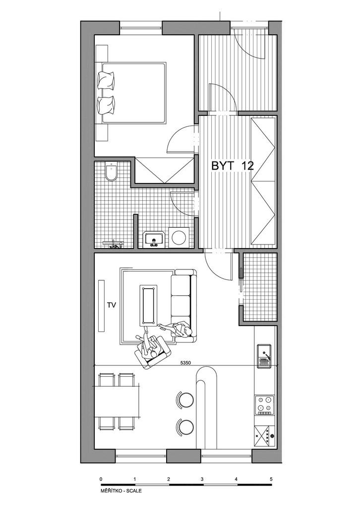 Půdorys apartmánu 12